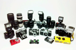 decided to gather up my camera collection and take a few photos. The prices of these cameras range from $1 to $1000!  Day 52/365