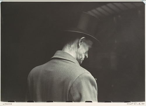Man in Tophat and Coat, Seen from Behind, London, 1951 Robert Frank