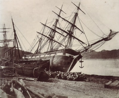 "mpdrolet:  American Barque ""Jane Tudor,"" Conway Bay, c.1855 David Johnson"