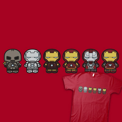 My shirt's up on Shirtoid! ^_^ Chibi Iron Man Movie Armory available at RedBubble (Thanks to Shirtoid)