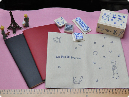 trifle:  Moleskine's notebook cover: Le Petit Prince (by Memi The Rainbow)