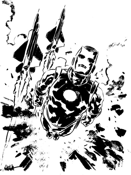 Iron Man quick sketch by *mbreitweiser