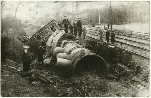 liquidnight:  Train Wreck, 1912 From As We Were: American Photographic Postcards 1905-1930