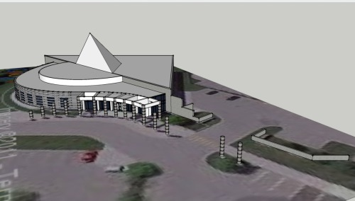 Automotive Hall of Fame #sketchup #geotagged