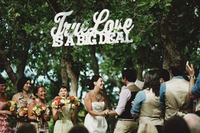 True Love is a Big Deal. You bet it is! Love unique, fun wedding ideas like this one.