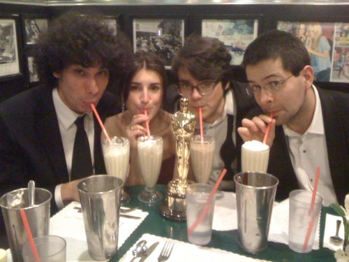 Finishing the night with milkshakes.