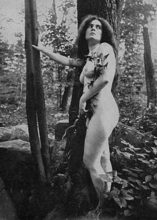 In the Woods from Robert Wilson Shufeldt's book Studies of the human form for artists, sculptors, and scientists,1908