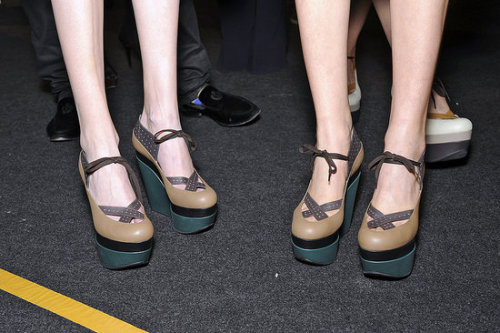 Dear Marni. Can I have this, s'il vous plait?? Shoes used for Marni show, MFW.