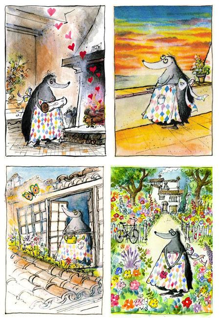 Mrs Mole Illustration