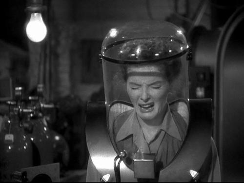 Katharine Hepburn in Without Love (1945). I cannot stop laughing at her face.