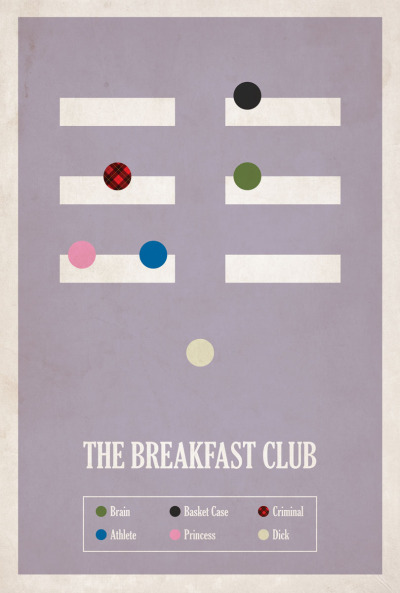 fuckyeahmovieposters:  The Breakfast Club by Matt Owen