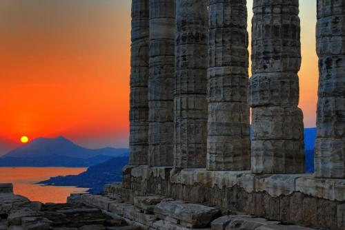 Temple of Poseidon, Sounion, Greece.