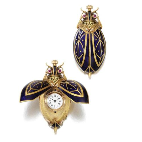 Women's pendant watches in the form of beetles were a very popular product from several major Swiss watch companies during the 1890s.