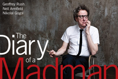 Going to the BAM Theatre Tonight. Really excited for Geoffrey Rush's (was nominated for Best Supporting Actor for The King's Speech) The Diary of a Madman. Flyer from BAM. http://www.bam.org/