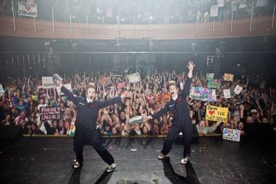 "iseethefutureitcouldbeyou:  ""WE ♥ LONDON O2 IT WAS OUR FIRST CONCERT IN LONDON AND ALL YOU GUYS MADE IT VERY MEMORABLE FOR US AND WE WANNA THANK YOU ALL! JOHN AND EDWARD"""