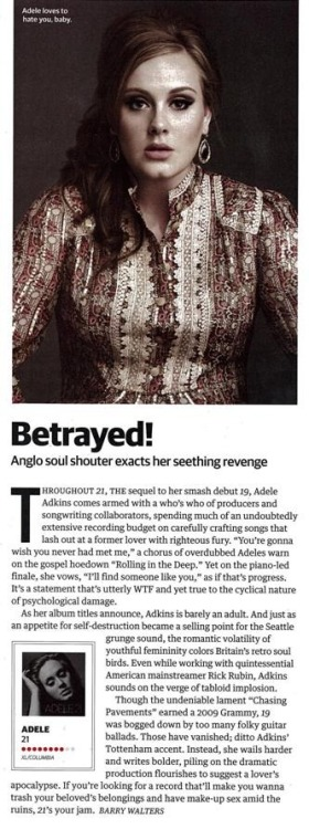Adele receives 8/10 stars in Spin!