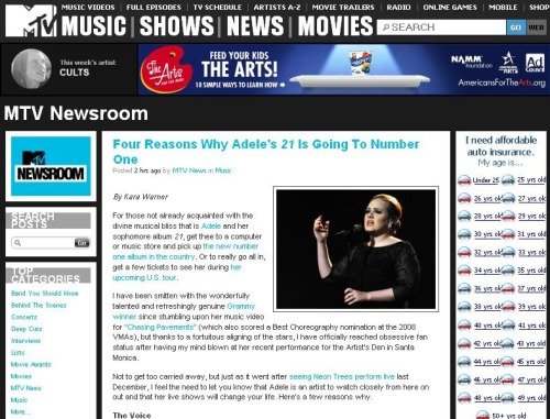 Check out Adele on MTV News!