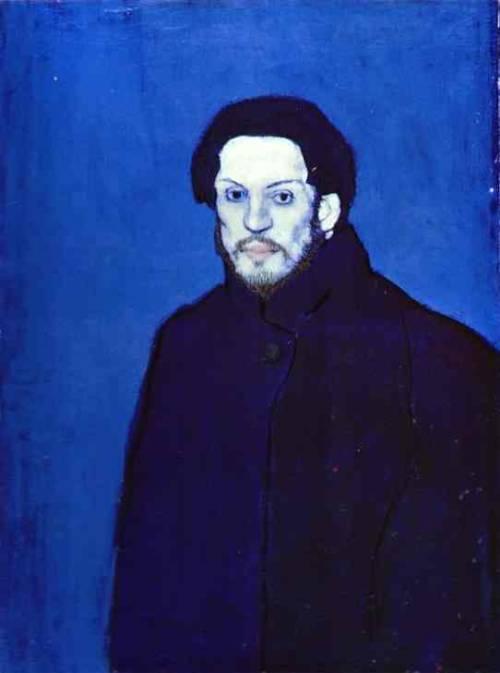 picasso blue period self portrait. Self-portrait, Blue Period,