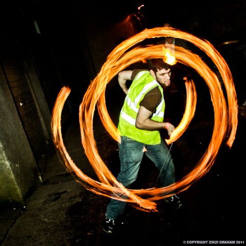 Justice doing fire poi at The Badger's Ball - WooDog Recordings Special - 26th February 2011. Albums: 01 & 02.