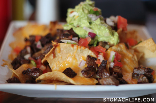 CAPITOL CITY; HOLLYWOOD: CAP CITY NACHOS: CARNE ASADA, THREE CHEESES, JALAPEBEANS, SOUR CREAM & GUACAMOLE $12 *Capitol City Sports bar has 48 screens for game nights, Two VIP areas, Patio space, and *TV monitors in the bathroom Stalls and above the Toilets, so you won't miss any action. Happy Hour 4:30-7pm Click to follow: @StomachLife