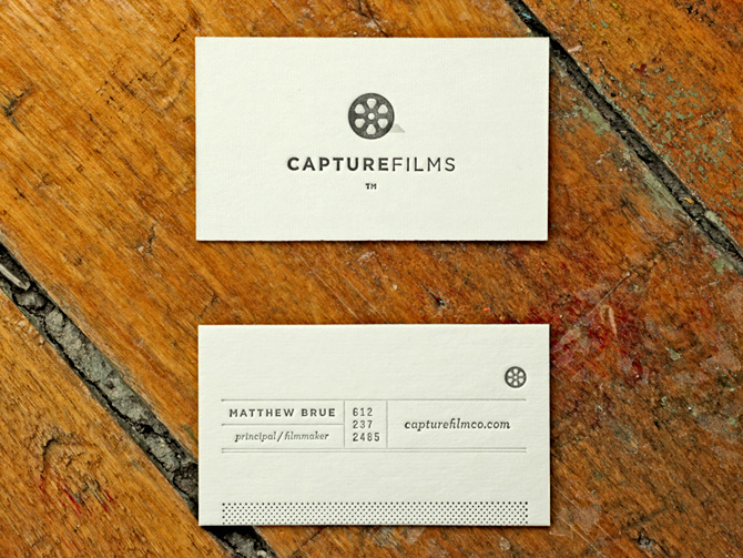 Very nice and simple business cards for capture films