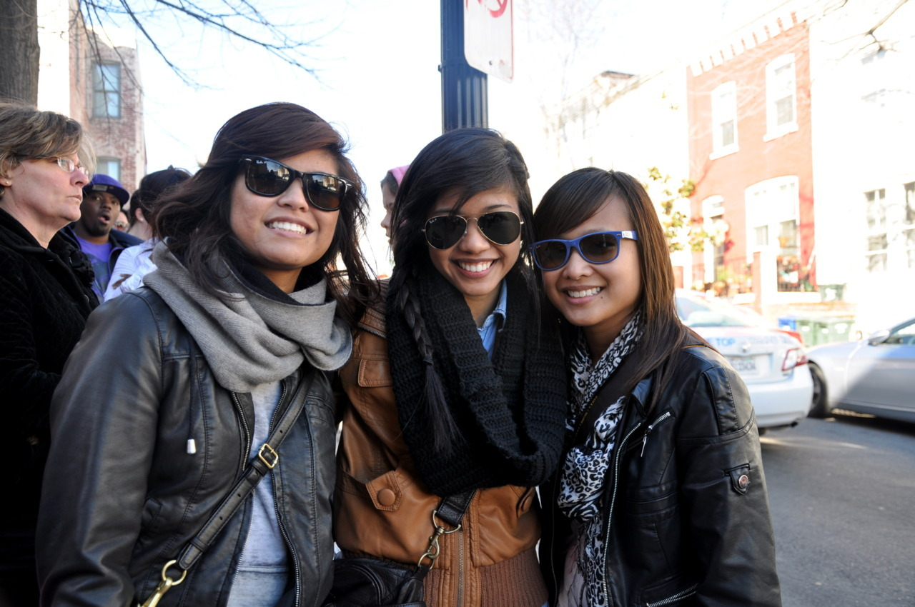 Taken: February 19, 2011  Went to DC with Megan, Michelle, Nikki (Megan's little sister), and Joey. It was basically a food kind of day. We took the metro to Georgetown from Glenmont. Waited in line for Georgetown cupcakes… which was definitely worth the 1 hour wait. Then we took the metro again to U-street for some Ben's Chili Bowl. 93.9 was there doing some kind of video or something and we got free stickers. yay!  After, went to Michelle's house for a little bit. Chilled and watched some TV… thennn back to campus. Headed to Dan's with Joey, Nikki and Stef. Hah, good times regardless of the fact that I basically died by the end of the night.  Good times.