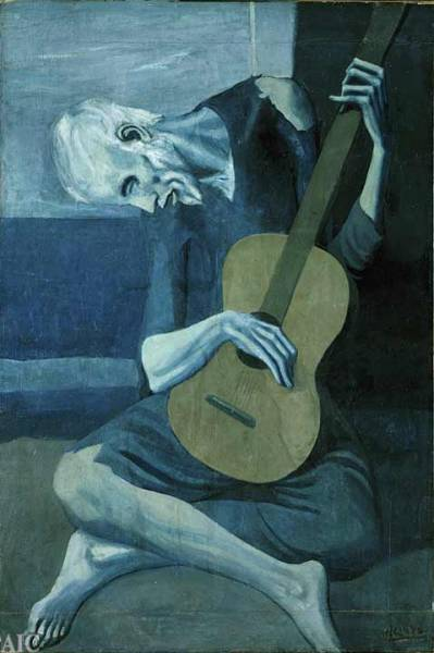 Pablo Picasso Spanish, 1881-1973The Old Guitarist1903/04Oil on panel