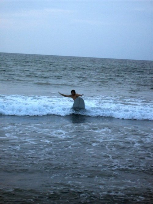 My first, caught on cam, wave at San Juan , La Union, Surf Capital of the North!