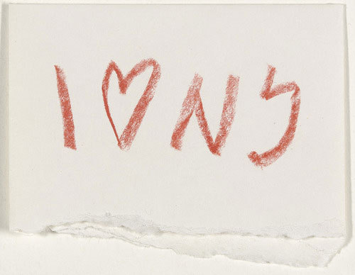 Milton Glaser's 1976 concept sketch for I (heart) NY.