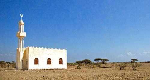 mosquemoe:  Sagallou Mosque in a small nomadic Afar town of Sagallou, on the north side of the Gulf of Tadjoura. Sagallou, Djibouti. (photo by rick bolt)