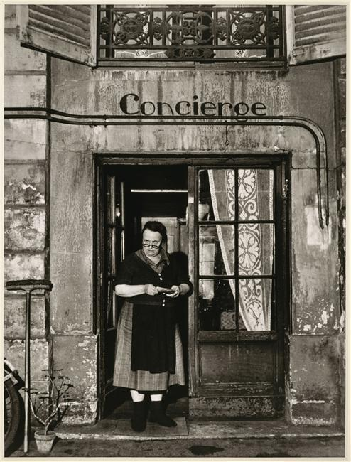 Robert Doisneau Concierge Rue Jacob, Paris, 1945 From RMN
