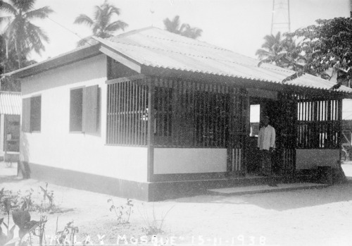 mosquemoe:  A photo from 1938 of Malay Mosque in Christmas Island. Territory of Christmas Island. (from National Archives of Australia's RecordSearch database)