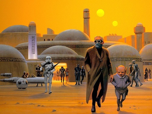-clu-:  Ralph McQuarrie  You will never find a more wretched hive of scum and villainy.