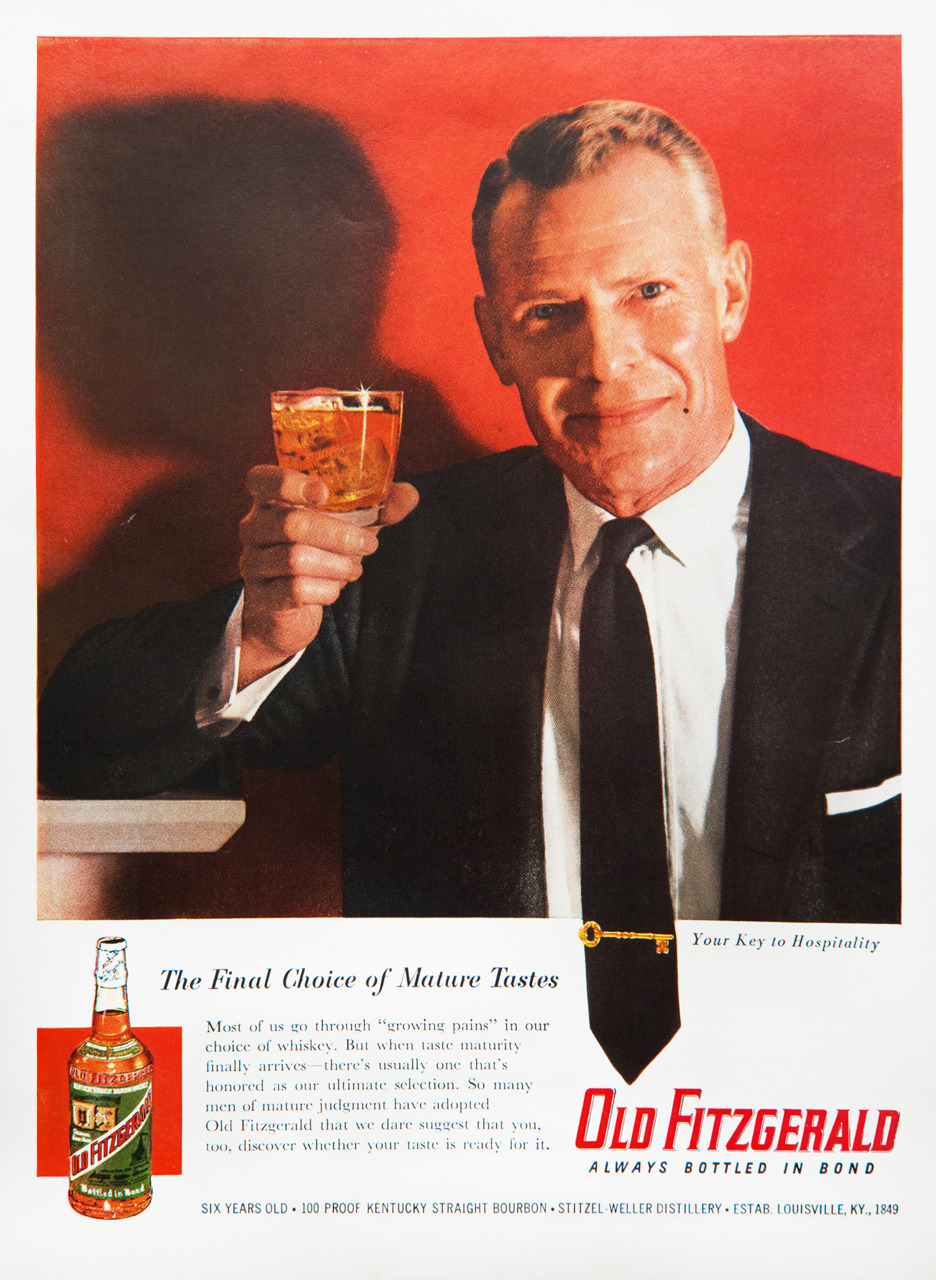 Old Fitzgerald Whiskey Advertisement - Gourmet: March 1957