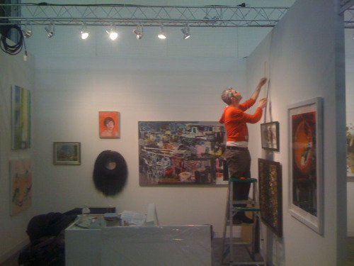 Installing ADAC Pavilion at the Armory Show. Spot the Keith W. Bentley!