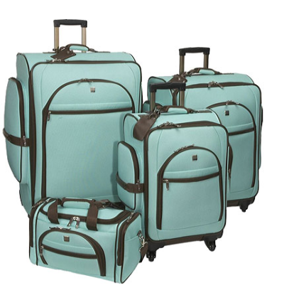 #Luggage pick of the #day! American Flyer #Travelware Euro 4-Piece Premium Luggage Set
