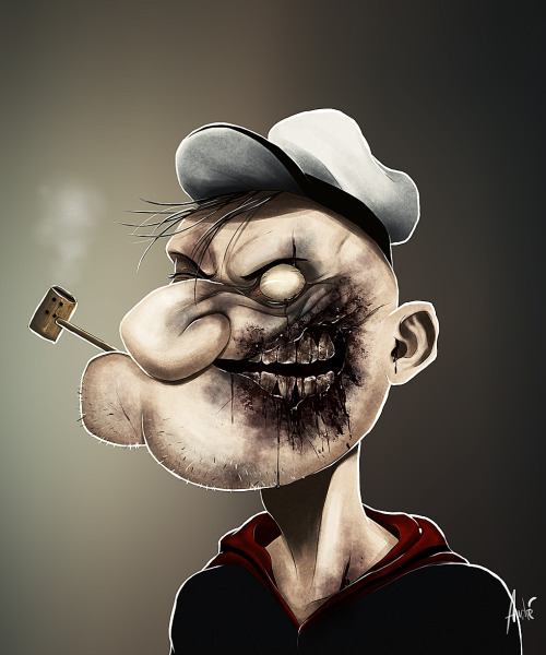 Zombie Popeye.  *Only one more to go.