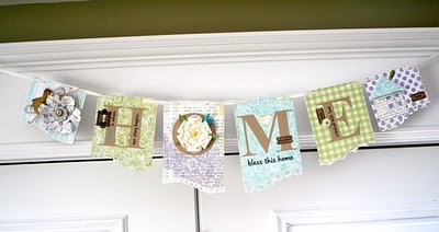 writeclickscrapbook:  lily bee: Sweet Home Banner Tutorial