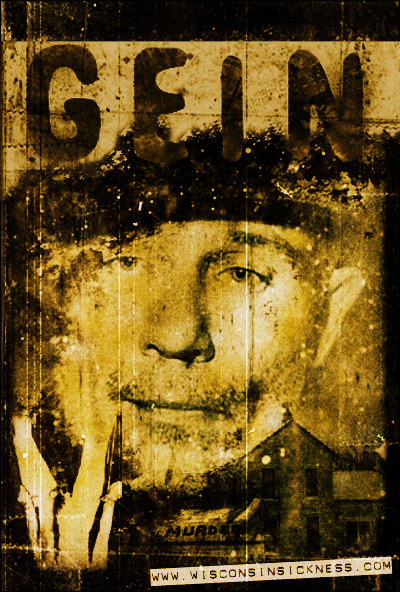 Made for the 50 anniversary of Ed Gein's arrest in 2007. More: Ed Gein on Wisconsin Sickness Get your Wisconsin state skull t-shirt