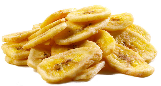 Baked banana chips! Another crunchy healthy snack. Oh man, I've got ...