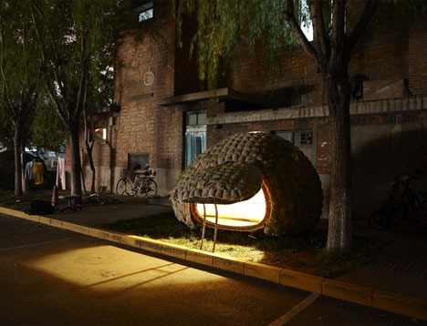 $1000 Egg House on Wheels for a Working Urban Architect | via Dornob