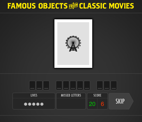Wednesday afternoon time waster: Famous Objects from Classic Movies Well there goes a good hour. Link