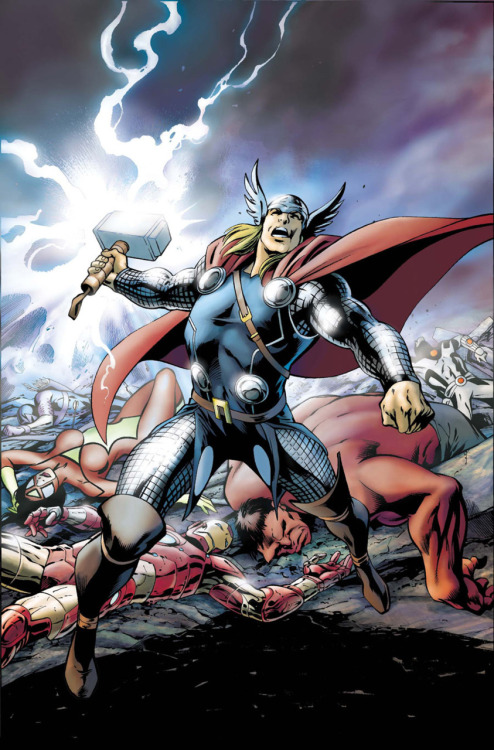 The Avengers lose to the God of Fear on the cover to Avengers #13 from Marvel.