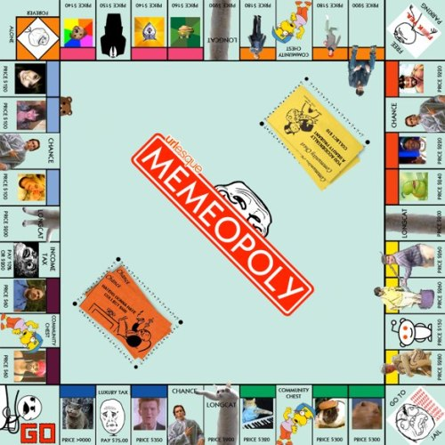 Memeopoly, Monopoly spoof board game(via Urlesque)