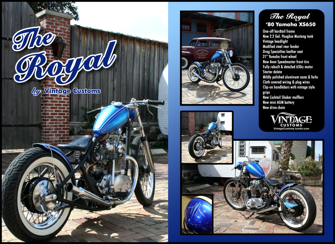 Click to view High-Res. The Royal XS650 - For Sale (end of March after Bike Week)