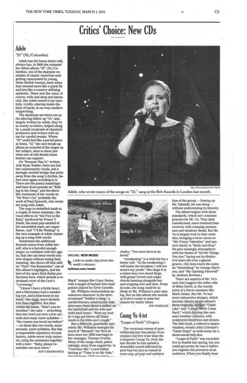 Check out Adele's review in the New York Times!