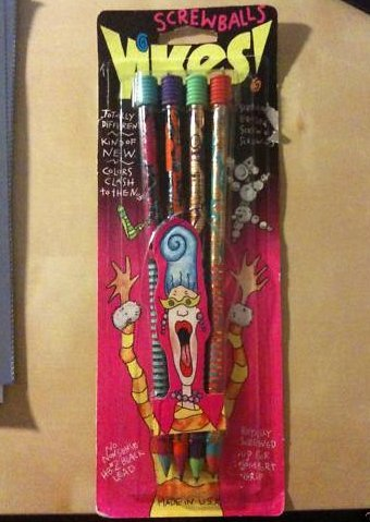 Yikes! Pencils via nostalgasm