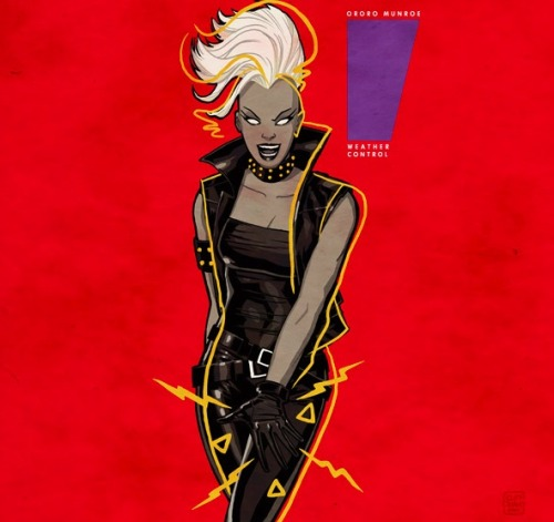 perpetua:  Punk rock Storm + Janet Jackson's Control, by Cliff Chiang. I don't think I can accurately express the pure joy I feel when I look at this image.