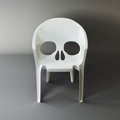 Cool skull plastic chair.