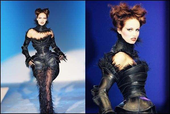 "Thierry Mugler Haute Couture ""Carapace"" Leather Dress"